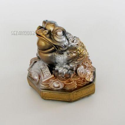 Жаба трикрака - фигура фън шуй от керамика