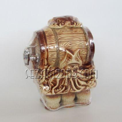 Ceramic alcohol barrel marine decor