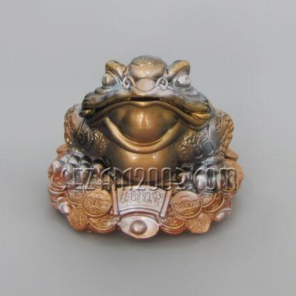 Жаба трикрака фън шуй - фигура/касичка от полистоун