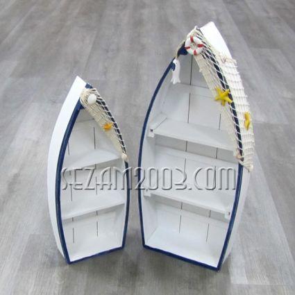 Лодка етажерка  с морски декор - 2бр.к-т