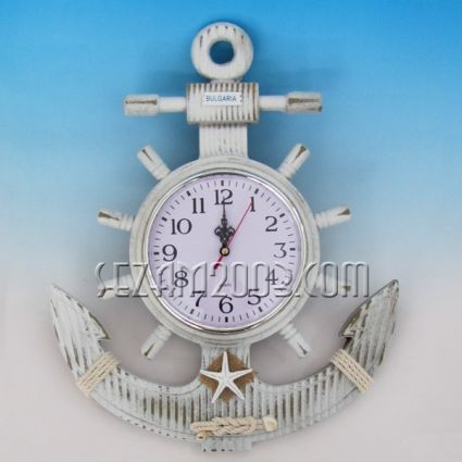 anchor - wooden wall clock