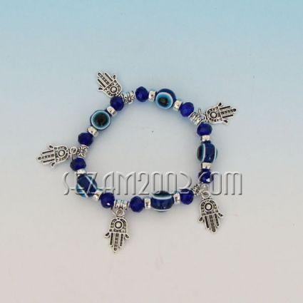 Bracelet plastic balls and metal elements