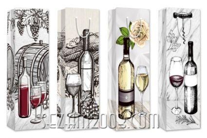 Подаръчна торбичка за вино - графичен дизайн