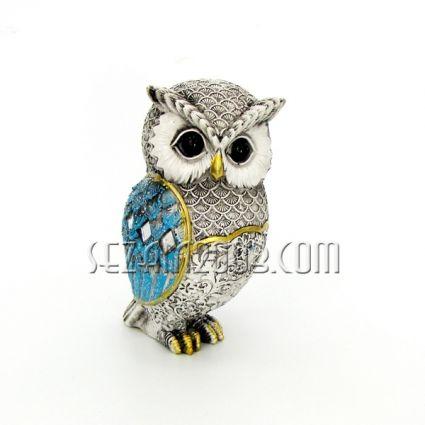 Owl decorated polirezin