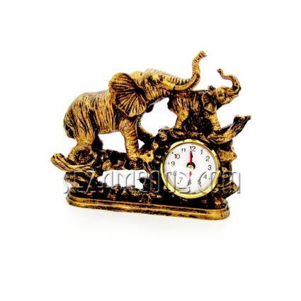 Слон с часовник - настолен от полирезин