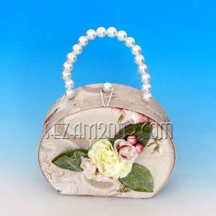 Кутия за бижута от плат+огледало - чанта