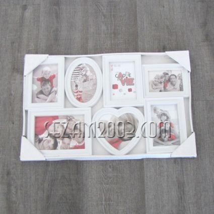 Рамки за 7 снимки стенно пано от пластмаса
