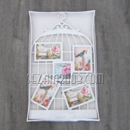 КАФЕЗ - пано за стена с рамки за 5 снимки от пластмаса