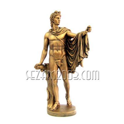 Гръцки войн - фигура от тънкостенна   керамика  ръчно декорирана