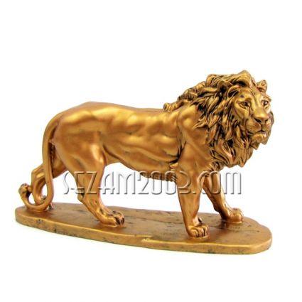 Лъв на поставка - фигура от тънкостенна   керамика  ръчно декорирана