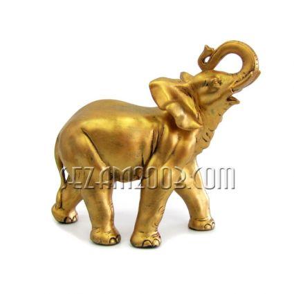 Слон африкански бронзов цвят  - фигура от тънкостенна   керамика  ръчно декорирана