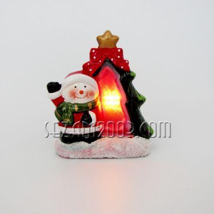 Коледна КЪЩИЧКА от керамика + лампички