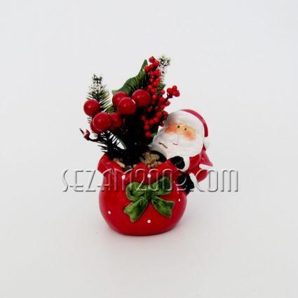 Коледно чувалче  от керамика с цветя