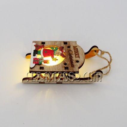 Коледна ШЕЙНА  от мдф декорирана светеща с мини батерии