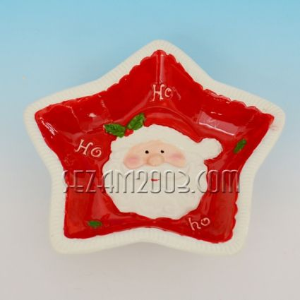 Купа / чиния  Коледна декорация от керамика