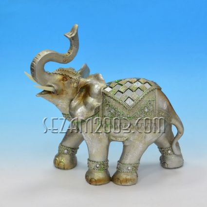 Слон с декорация фигура от полирезин