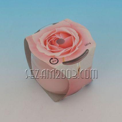 Ароматизирана свещ в стъклена чаша - роза