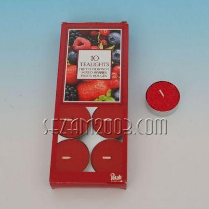 Ароматизирана чаена свещ - горски плодове  - 10 бр.в опаковка