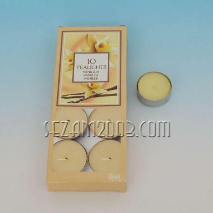 Ароматизирана чаена свещ - ванилия - 10 бр.в опаковка