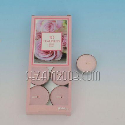 Ароматизирана чаена свещ - роза - 10 бр.в опаковка