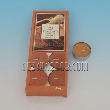Ароматизирана чаена свещ - канела - 10 бр.в опаковка