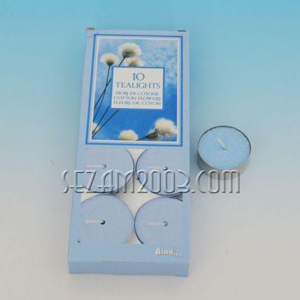 Ароматизирана чаена свещ - памук - 10 броя в опаковка